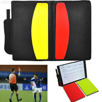 32D2 Football Referee Case Yellow Red Card Booklet Game Soccer Sport 7C7F1D9