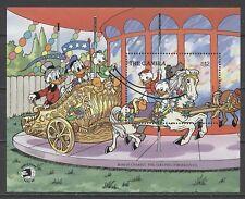 Walt Disney, Donald, Karussell, Pferde - Gambia - Bl.78 ** MNH