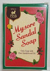 10 X MYSORE SANDAL SOAP - PURE SANDALWOOD OIL - 75GM