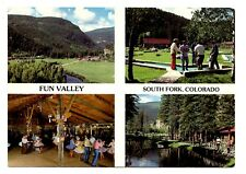Fun Valley Family Resort Postcard South Fork Colorado Mini Golf Square Dancing