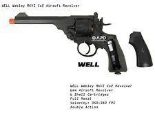 FULL METAL WELL Webley MKVI Co2 Revolver Airsoft Pistol 6mm