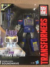 Transformers Titans Return Soundblaster & Soundwave Sealed Decepticon Leader