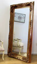 "Louis Large Ornate Carved French Frame Wall Leaner Mirror Gold - 35"" x 69"""