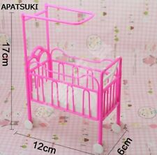 Doll Baby Bed for 1/6 Dollhouse Plastic Super Cute Bed For Kelly Dolls Furniture