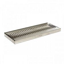"""Stainless Steel Drip Tray - Surface Mount 12"""" x 5"""" No Drain Surface Mount Beer"""