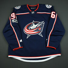 2017-18 Hayden Hodgson Columbus Blue Jackets Game Worn ADIDAS Hockey Jersey NHL