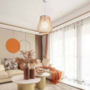 Bamboo Rattan Tea Room Pendant Light Lamp Shade Art Chandelier Lampshade