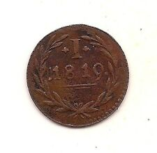 1819 German States Frankfurt Am Main Token Coinage Pfennig-- Very Strong Detail