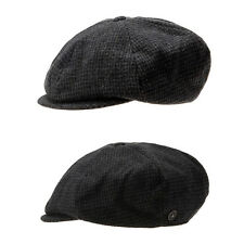 Unisex Mens Hound Tooth Check Bakerboy Tweed Cabbie Gatsby Flat Cap Newsboy Hats