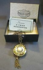 Pendant Watch Two Sided Norman De Luxe Vintage Tassel Accents