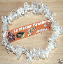 Bracelet Baroque Cristal de Roche Bijoux pierre (Divination et intuition) Neuf