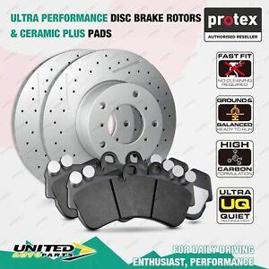 Front Disc Brake Rotors + Ceramic Plus Pads for Mercedes Benz CLS250 Cdi CLS350