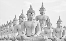 STUNNING ABSTRACT BUDDHA STATUES #318 QUALITY ZEN CANVAS PICTURE A1 WALL ART