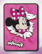 Minnie Mouse Printed Soft Coral Fleece Throw Rug Blanket | Soft & Cozy | Disney