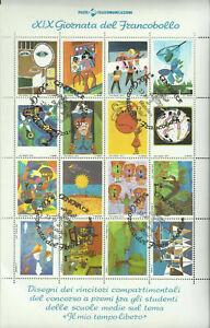 """FR137a. """"XIX Giornata francobollo"""" Foglietto celebrativo 23/10/77 Annullo 1° gg"""