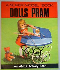 Uncut A Super Model Book Dolls Pram to Assemble with Story in Book 1969