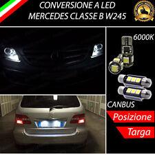 2 X LUCI DI POSIZIONE + 2 X LUCI TARGA LED CANBUS MERCEDES CLASSE B MK1 W245