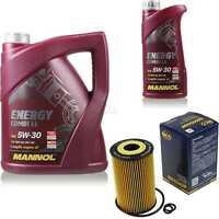 Ölwechsel Set 6L MANNOL Energy Combi LL 5W-30 Motoröl + SCT Filter KIT 10190651