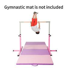 Gymnastics Horizontal Training Bar Junior Training Bar Adjustable New Pink