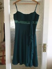 DEBUT EVENING DRESS SIZE UK 14 GREEN IN NICE CONDITION