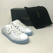 NIB $350 Rag & Bone RB1 Mule Leather Sneaker White/Chambray size: US 6 EU 36 NEW