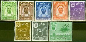 Abu Dhabi 1964 Set of 8 to 1R SG1-8 Very Fine MNH