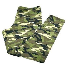 No Boundaries Juniors Soft Full Length Ankle Leggings Size XXXL (21) Green Camo