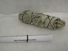 SAGE WHITE SMUDGE STICK WAND REMOVE NEGATIVITY CLEANSING 4 to 5 inches
