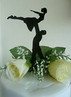 Dirty Dancing Style Silhouette BLACK Acrylic Cake Topper