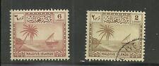 Maldive Islands Palm Tree & Seascape of 1950 & More