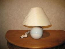 *NEW* Lampe de chevet H.27cm boule beige abat-jour beige Lamp
