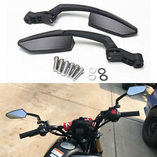 10MM BLACK MOTORCYCLE REAR VIEW SIDE MIRRORS FOR 2014-2017 HONDA GROM MSX125