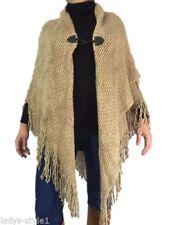 Damen-Pullover & -Strickware im Ponchos-Stil mit mittlerer Strickart ohne Muster