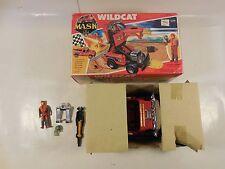 VINTAGE M.A.S.K. WILDCAT VEHICLE W/LONG MASK CLUTCH HAWKS FIGURE BOX KENNER 1987