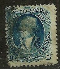 DEALERS CHOICE U.S. 1867 Classic Stamp F Grill 90c Washington #101 WYSIWYG NoRes