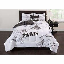 Paris 5-Piece Bedding Comforter Full Size Kids Bedroom Washable Bed Set