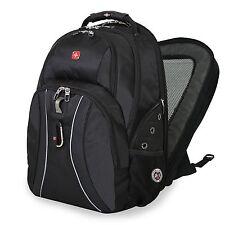 Black SwissGear ScanSmart Laptop Backpack School Work Notebook Bag 17.3 15.