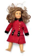 Mini American Girl Doll Rebecca Red Coat Brunette