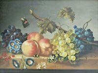 Hildegard SCHWAMMBERGER (German *1950) Fruit Still Life - Oil on Board - Listed!