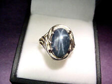 VERY NICE QUALITY GENUINE NATURAL BLUE STAR SAPPHIRE  5.62 CTS  14K GOLD RING