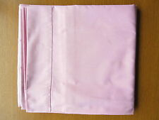 """Single Bed Pink Flat Cotton Sheet, 1970s 1980s Vintage  70"""" x 104"""" Good Quality"""