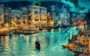 Venice Ltaly Scenery Oil painting Picture Printed On Canvas Home Art Wall Decor