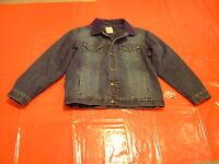 Herrenjacke Übergangsjacke Jeans Jacke stonewashed blau Grösse L Cordkragen NEU