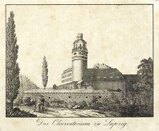 LEIPZIG - PLEIßENBURG - ALTE STERNWARTE - Lithografie um 1835