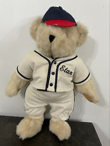 """The Vermont Teddy Bear Plush Fisher Baseball Player Outfit 12"""" Great"""