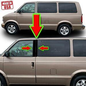 Black Pillar Trim for Chevy Astro Van & GMC Safari (EXT CAB) 85-05 4pc Set