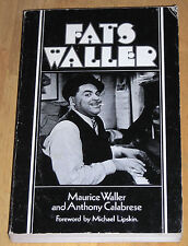 Fats Waller by Anthony Calabrese and Maurice Waller (1979, Paperback) RARE!
