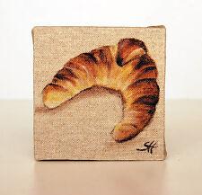 Tableau viennoiserie croissant parisien décoration d'intérieur style shabby chic