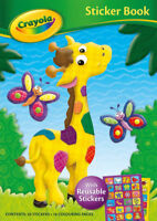 Crayola Sticker Book with reusable stickers - giraffe cover with coloring pages