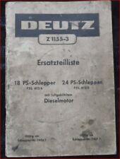 TRATTORI DEUTZ f2l 612/6 e f2l 612/5 RICAMBIO elenco